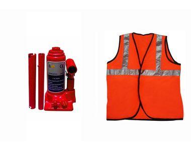 Speedwav 2 Ton Hydraulic Bottle shaped Jack +Speedwav Reflective Jacket
