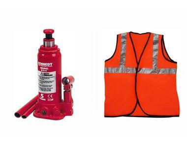 Speedwav 5 Ton Hydraulic Bottle shaped Jack +Speedwav Reflective Jacket