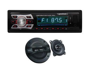 Speedwav FP-6252 Car MP3 Stereo +Sony XS-GTF10382 3Way Speakers