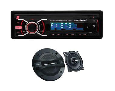 Speedwav DP-3236 Car MP3 Stereo +Sony XS-GTF10382 3Way Speaker