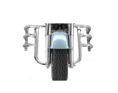 Speedwav MADRAS Bike Safety Leg Crash Guard-Chrome for Royal Enfield