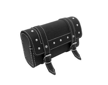 Speedwav Bike Leatherette Rectangular Rear Saddle Bag-Black for Royal Enfield