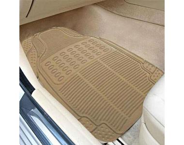 Buy Speedwav Rubber Car Floor/Foot Mats-Beige Online at ...