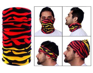 Jazzmyride Multifunctional Headwrap / Mask / Scarf-Red Yellow Splash
