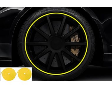 Speedwav Wheel/Rim Stylish Tape Set Of 2-Yellow