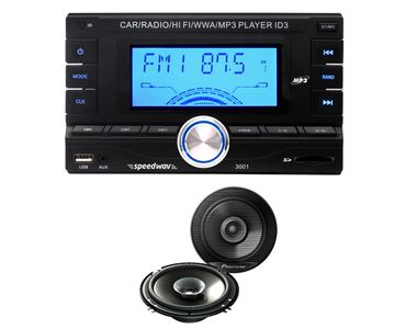 Speedwav DD-3001 Car MP3 Stereo+Pioneer TS-G1615 16cm Dual-Cone Speakers
