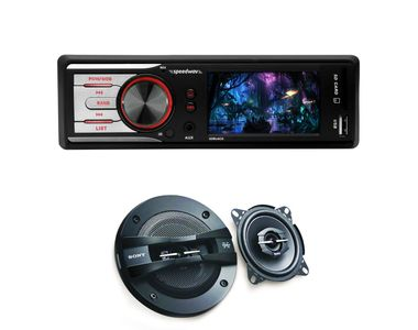 Speedwav GS-800 Car MP5 Stereo+Sony XS-GTF10382 3Way Speakers