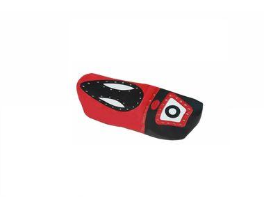 Speedwav Eye Leatherette Bike Seat Cover Red & Black