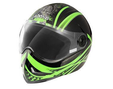 Steelbird Helmet Adonis Dot-Black Green