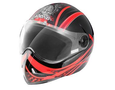 Steelbird Helmet Adonis Dot-Black Red