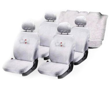 Speedwav Sweat Control White Towel Seat Covers