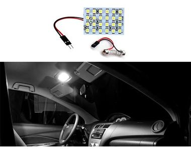 Speedwav 24 SMD LED Lamp Car Dome Ceiling Roof Reading Light with Dual Connector
