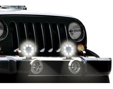 Speedwav 8 LED Car Aux Fog Light Assembly Round Set Of 2