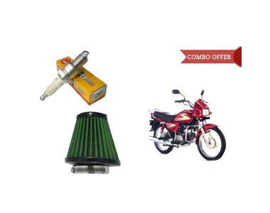 NGK Iridium Bike Spark Plug+Speedwav Air Filter