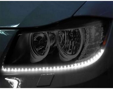Speedwav Car Bike Waterproof 20 LED Light Strip 30cm - White