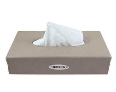 Speedwav Premium Leatherette Tissue Holder Box - Beige