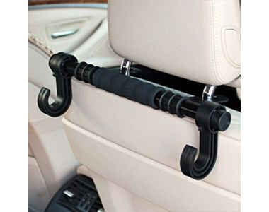 FLY Headrest Luggage Bar Hanger Car Holder - Double Hooks