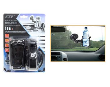 Fly Universal Windshield Car Window Mount Dock Suction Bottle Drinks Vacuum Cup Holder for Cars