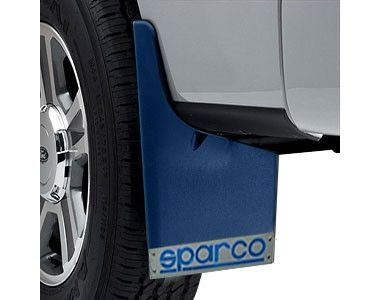 Sparco Racing Style Plastic Car Mudflaps Set Of 4 BLUE