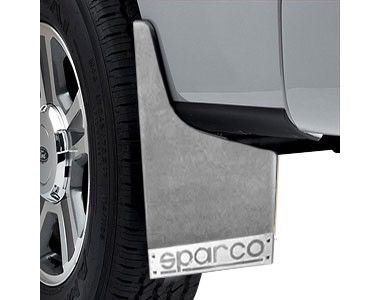 Sparco Racing Style Plastic Car Mudflaps Set Of 4 WHITE