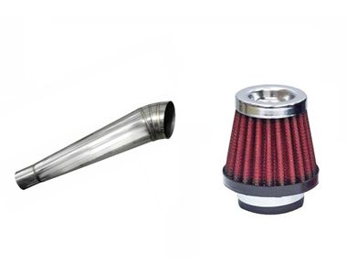 Speedwav Bigul Bike Exhaust+HP Bike Air Filter 42mm