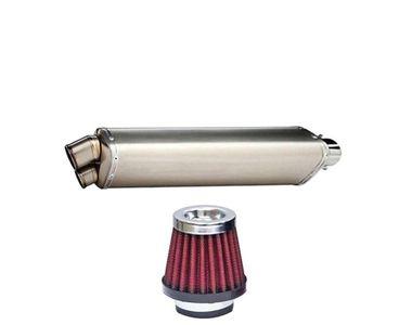 Speedwav Two End Exhaust+HP Bike Air Filter 42mm