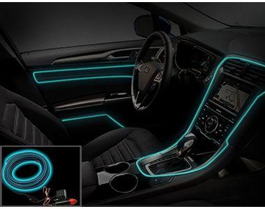 Speedwav Car Interior Ambient Wire Decorative LED Light Ice Blue
