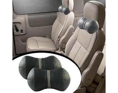 Speedwav Car Neck Pillows Dumble Cushion Set of 2 - Grey