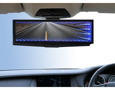 Speedwav YCL-811 3D BLUE LED Light Wide Rear View Mirror