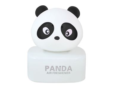 Panda Car Natural Air Freshner Freshener Liquid Perfume Bottle Base-Black