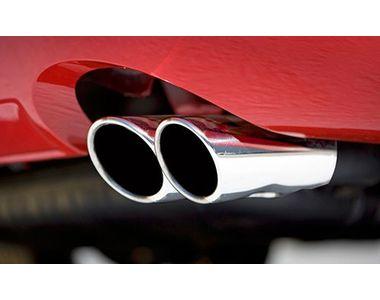 Speedwav A28 Round Twin Pipe Car Exhaust Silencer Tip Chrome