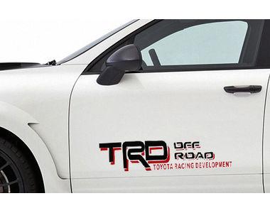 Speedwav Car Door Sporty Stickers Set of 2 Black & Red-TRD Off Road