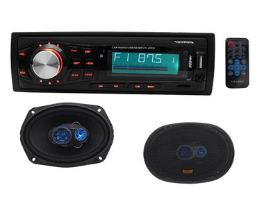 Speedwav 8002 Car MP3 Stereo + Speedwav GX-1625 7.5x11 Inches 3-Way Speakers