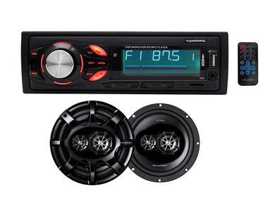 Speedwav 8001 Car MP3 Stereo + Blaupunkt GTx 542 DE 5.4 Inch 2-Way Coaxial Speakers