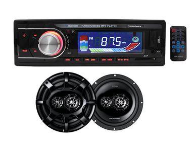 Speedwav 612BT Car MP3 Stereo + Blaupunkt GTx 542 DE 5.4 Inch 2-Way Coaxial Speakers