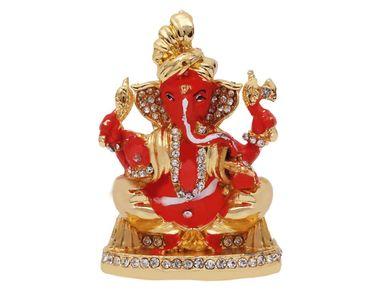 Speedwav Car Dashboard Stylish God Idol-Lord Ganesh Ji-Orange