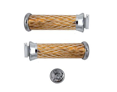 Golden Spider Stylish HandleBar Grips with Unique Eagle design for All Bikes
