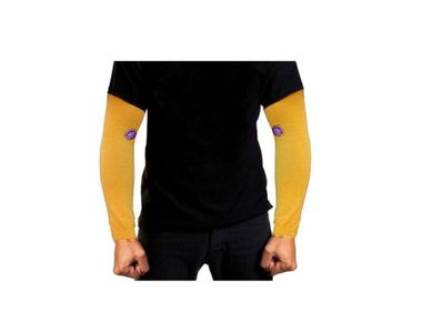 Pair of Stylish Biking/Sports Arm Sleeves for UV Sunrays Summer Protection - Yellow