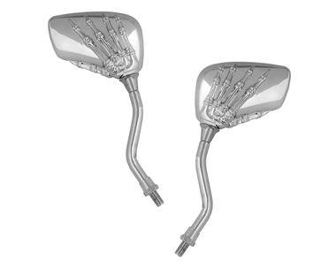 Speedwav Chrome Skeleton Claw Rear View Mirrors Set of 2