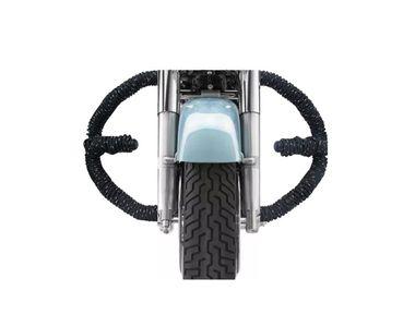 Speedwav Diamond Black Rope Bike Safety Leg Crash Guard for Royal Enfield