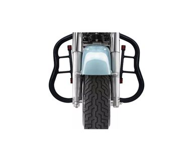 Speedwav Rear 2 Rods Leg Crash Bike Safety Guard Black for Royal Enfield