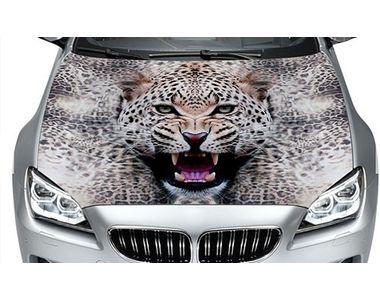 Speedwav Car Hood Bonnet Vinyl Decal Staring Leopard