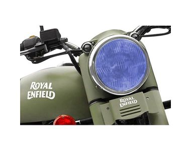 Speedwav Bike Headlight Replacement Flat Glass Blue for Royal Enfield