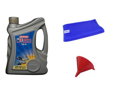 Servo Car MGO 20W40 1 Litre Engine Oil+Microfiber Cloth+Funnel