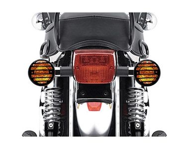 Speedwav Bike Indicator Grill Covers Black Set of 4 for Royal Enfield