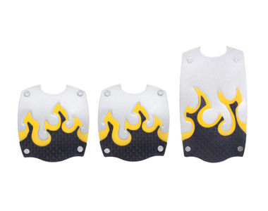 Speedwav Car Driving Pedals Kit Set of 3 Yellow Flame