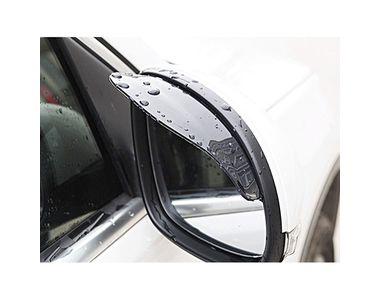 Galio Car Side Mirror Rain Guard Visors Smoke Set of 2