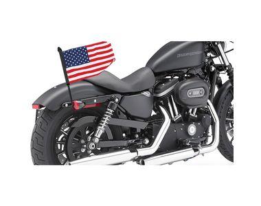 Rear USA Flag Black Pole Mount for Harley Davidson