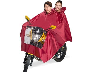Speedwav Scooter Raincoat for Driver and Pillion Rider - Red