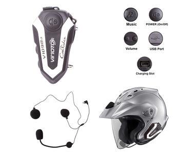 Vimoto Bike Helmet Bluetooth Headset for Call/Music/Intercom